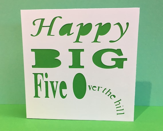eightieth Dad Funny 50th Birthday Card for a Man Fiftieth Birthday Card 80th seventieth Grandparent sixtieth woman 70th Handmade Over the hill 60th Husband