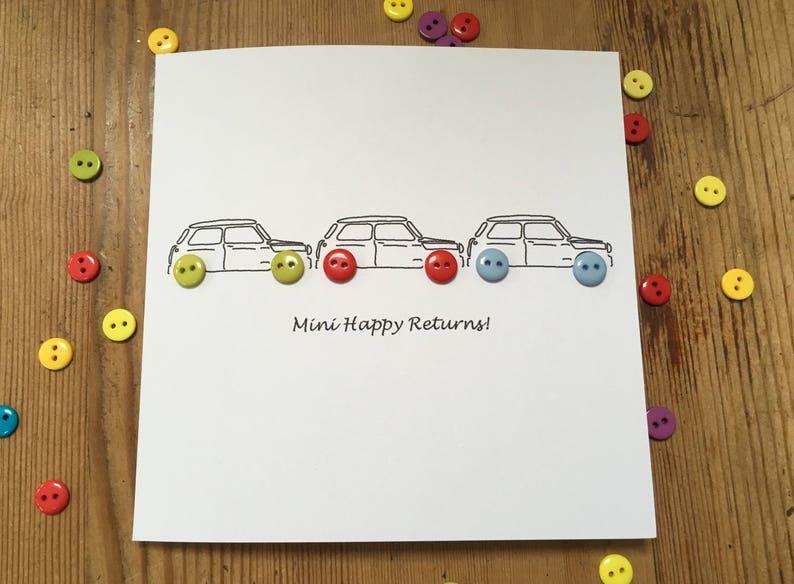 Husband Handmade Greeting Card Son Minis Birthday Boy Car Boyfriend 3 Little