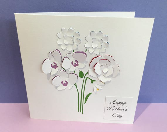 Birthday Card Mothers Day Card Thank You Card Paper Etsy