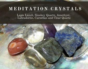 Meditation Crystals,  Meditation Crystal Set, Gemstones for Meditation, Spiritual Meditation Crystals