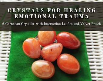 Emotional Trauma Healing, Crystals for Emotional Trauma, Carnelian Healing Crystals, Healing Therapy