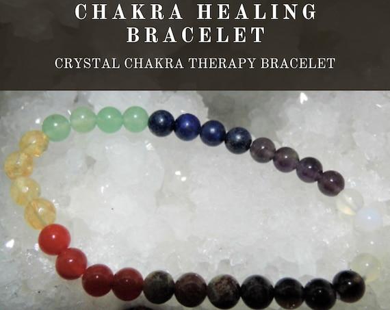 Chakra Therapy  Bracelet,  Crystal Chakra Bracelet, Gemstone Bracelet, Crystal Chakra Therapy, Crystal Healing