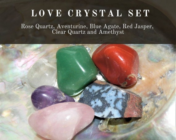 Crystal Love Healing, Love Crystal Set,  Love Healing Gifts, Therapy Crystals
