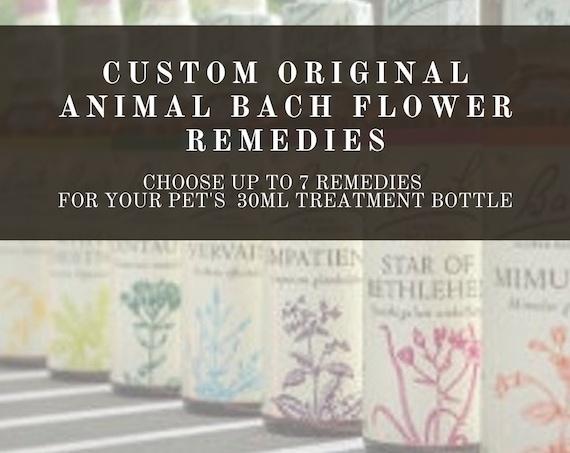 Animal Custom Bach Flower Remedies, Bach Original Flower Remedies, Bach Flower Essences.