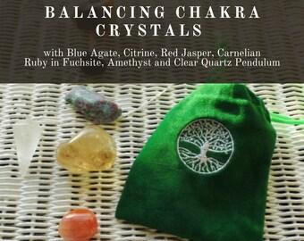 Balancing  Chakra Crystals, Crystals & Pendulum for Balancing,  7 Chakra Crystals,  Healing Therapy Crystals