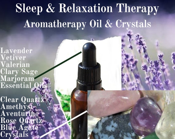 Sleep Oils & Crystals, Essential Oils and Crystals for Sleep, Sleep Therapy
