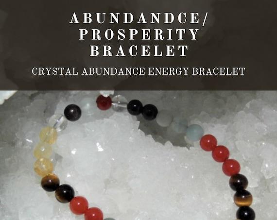 Crystal Abundance Bracelet,  Abundance Prosperity Bracelet, Gemstone Bracelet, Crystal Therapy, Crystal Healing