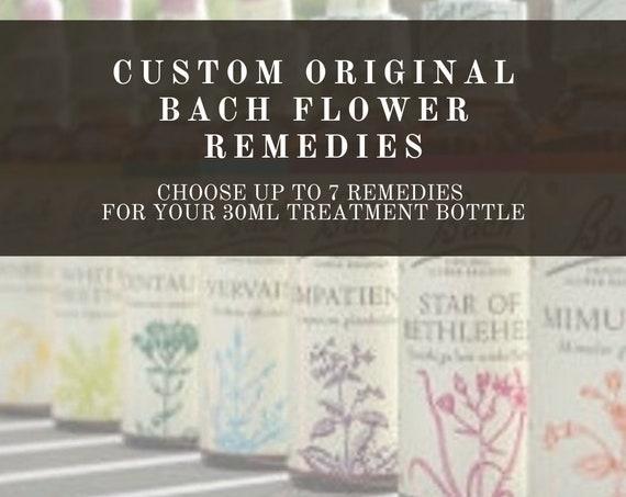 Custom Bach Flower Remedies, Bach Original Flower Remedies, Bach Flower Essences.