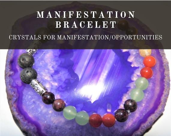 Crystal Manifestation Bracelet,  New Opportunities Bracelet, Gemstone Bracelet, Crystal Therapy, Crystal Healing