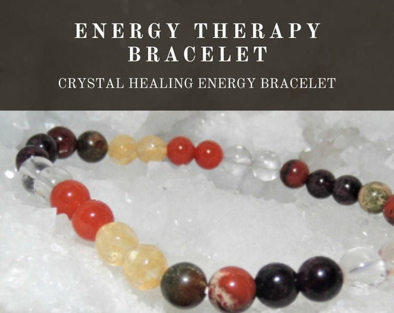 Crystal Energy Therapy Bracelet,  Healing Energy Bracelet, Crystal Therapy, Crystal Healing