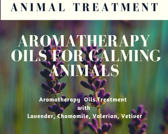 Animal Calming Treatment,  Essential Oils for Calm,  Essential Oil Treatment for Animals