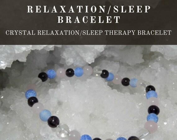 Crystal Relaxation/Sleep Bracelet,  Crystal Healing Bracelet, Gemstone Bracelet, Crystal Therapy, Crystal Healing