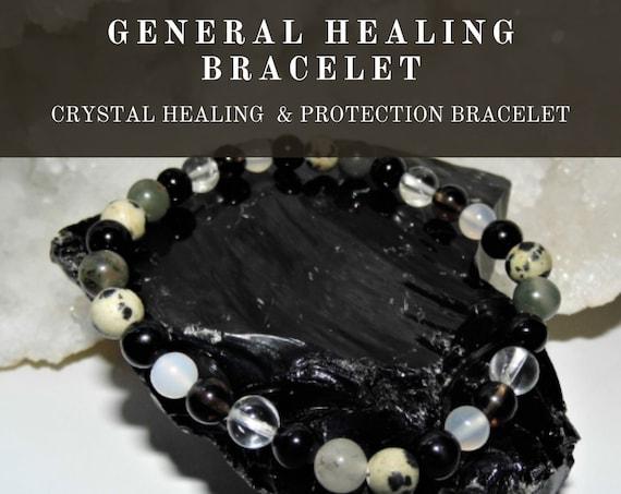 Healing Therapy Bracelet,  General Healing Bracelet, Gemstone Bracelet, Crystal Therapy, Crystal Healing