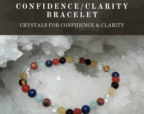 Crystal Confidence Clarity Bracelet,  Crystal Healing Bracelet, Gemstone Bracelet, Crystal Therapy, Crystal Healing