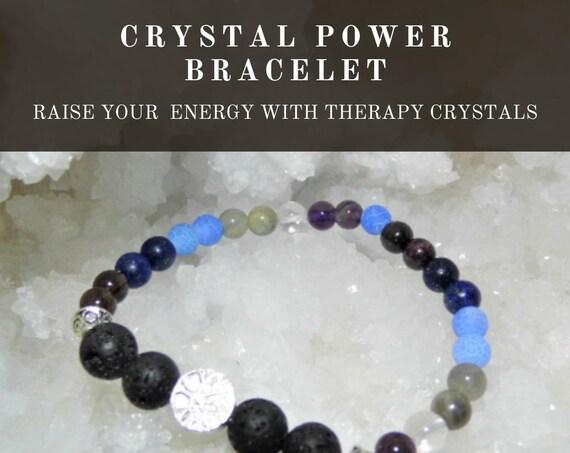 Power Therapy  Bracelet,  Crystal Power Bracelet, Gemstone Bracelet, Crystal Therapy, Crystal Healing