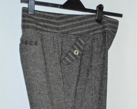 Joe Browns Wool Trousers, Grey Wool Trousers,  Wide Leg Trousers,  Smart Trousers Size 18