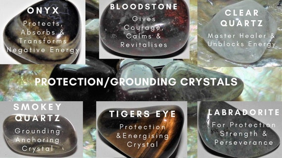 7 Protection Crystals, Grounding Crystals, Healing Crystals, Therapy Crystals