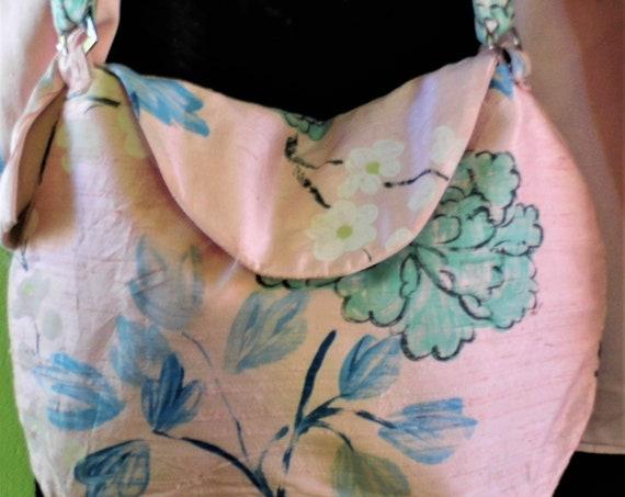 Pink Silk Evening Bag, Silk Scarf, Silk Evening Bag and Scarf, Pink Handbag and Scarf