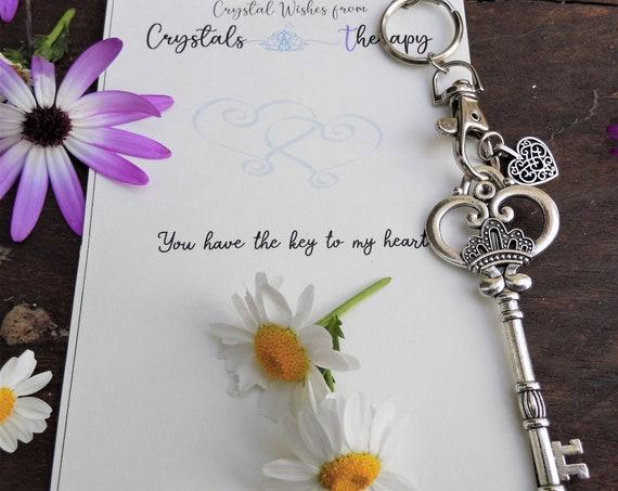 Charm Keyring, Key Charm Keyring, Charm Key Keychain, Personalised Keyring, Keyring Gift