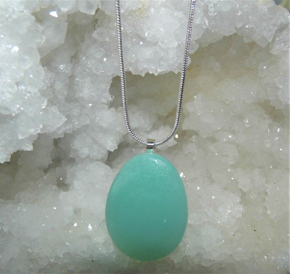 Amazonite Necklace, Amazonite Oval Pendant, Sterling Silver Necklace, Gemstone Necklace