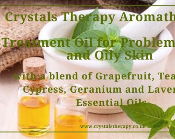 Aromatherapy for Problem Spots and Oily Skin, Aromatherapy Oil, Face Oil, Essential Oil Treatments