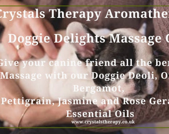 Dog Aromatherapy Massage Oil, Aromatherapy Oil, Essential Oils Best Massage Oil for Animals
