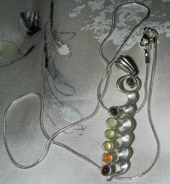 Chakra Gemstones Necklace, Chakra Jewelry, Chakra Necklace, Gemstone Necklace