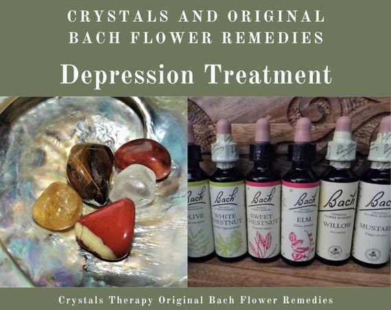 Depression Treatment, Crystals and Bach Remedies for Depression