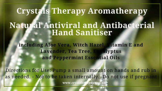 Natural  Antiviral and Antibacterial Hand Sanitiser with Essential Oils,  Essential Oil Hand Cleanser