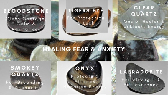 Crystals for Healing Fear & Anxiety, Crystals Therapy, Crystals for Healing, Healing Gifts