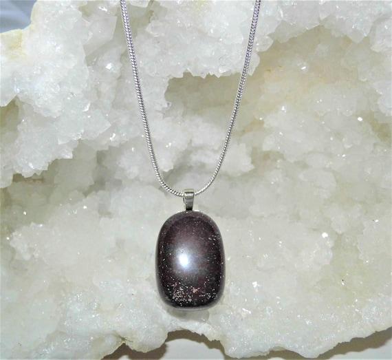 Bloodstone Pendant Necklace, Bloodstone Necklace, Gemstone Necklace Sterling Silver Necklace, Crystals for Healing