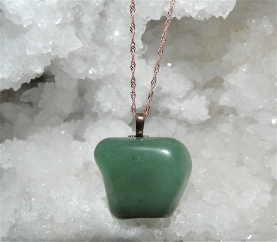 Aventurine Pendant Necklace,  Green Aventurine, Pendant ,  Gemstone Necklace, Crystals for Healing