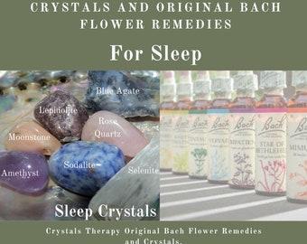 Bach Remedies & Crystals for Sleep, Original Bach Flower Remedies, Crystals Sleep Treatment, Bach Flower Essences