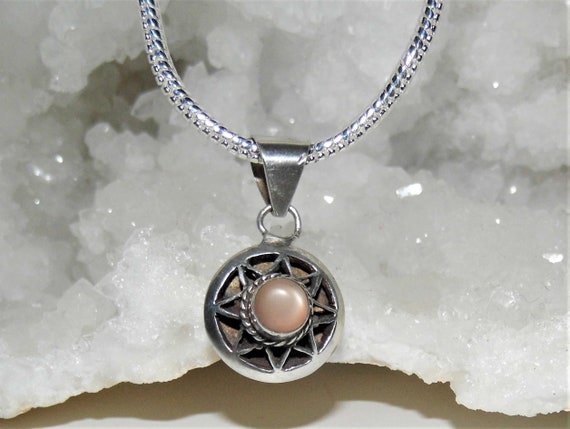 Brown Pearl Necklace,   Pearl Pendant Necklace,  Pearl and Sterling Silver Necklace