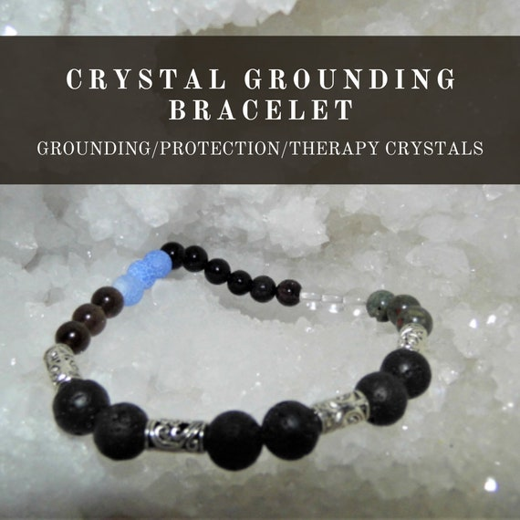 Grounding Therapy Bracelet,  Crystal Grounding  Bracelet, Gemstone Bracelet, Crystal Therapy, Crystal Healing