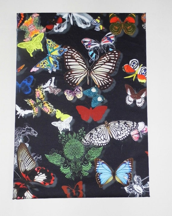 Fabric Butterfly Picture, Designers Guild Butterfly Parade, Butterfly Picture, Black Patterned Picture