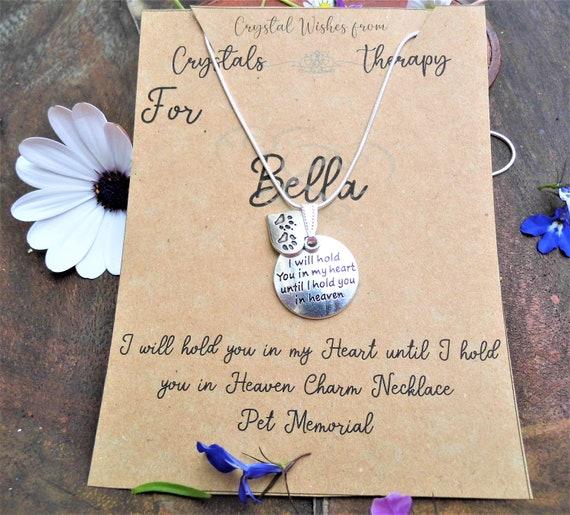 Pet Memorial Necklace,  Pet Charm Pendant, 925 Silver Necklace,