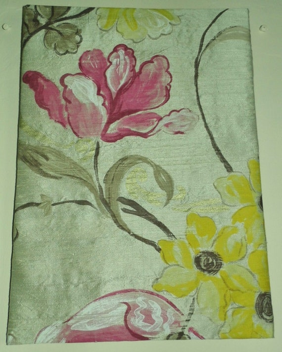 Silk Fabric Picture, Designers Guild Silk Whitewell, Silk Flower Picture, Silk Wall Hanging