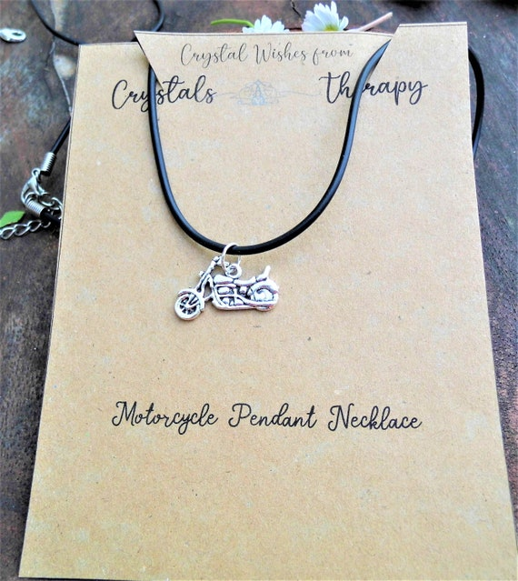 Motorcycle Charm Necklace,  Motorcycle Pendant Necklace, Motorcycle Charm Jewellery