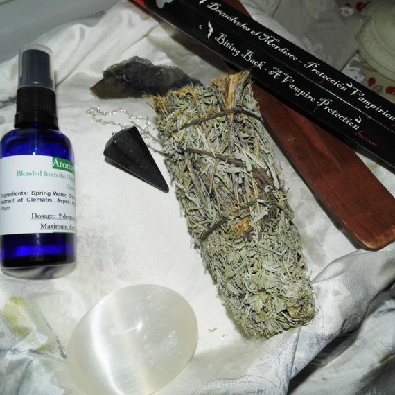 Crystals for Protection and Clearing, Crystals for Healing, Sage Smudge Sticks, Therapy Crystals