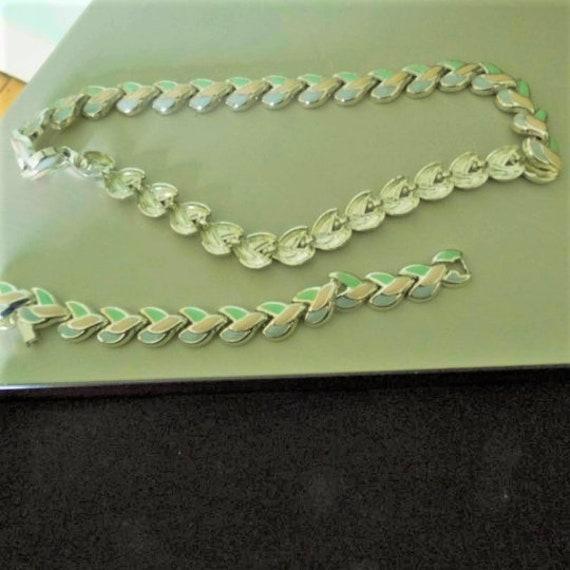 Costume Jewellery Bracelet and Necklace Set, Link Necklace and Bracelet Set,  Costume Necklace, Costume Bracelet