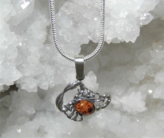Baltic Amber Scorpion Necklace,   Amber Scorpion Pendant Necklace, Zodiac Pendant Necklace