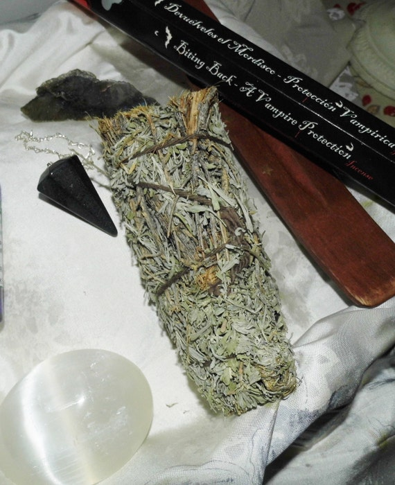 Clearing/Protection Crystals with Sage/Pine Smudge