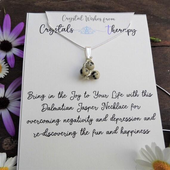Dalmatian Jasper Necklace, Dalmatian Jasper Pendant, 925 Silver Necklace, Personalised Necklace, Jewellery Gift