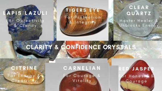 Clarity & Confidence Crystals, Crystals for Confidence, Healing Crystals, Crystals Therapy