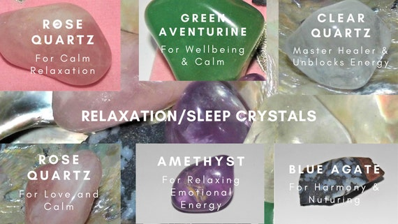Relaxation Sleep Crystals,  Crystals for Relaxation,  Therapy Crystals, Crystal Healing