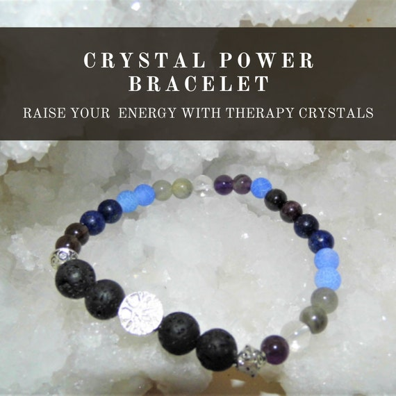 Crystal Power Bracelet,  Power Energy Bracelet, Gemstone Bracelet, Crystal Therapy, Crystal Healing