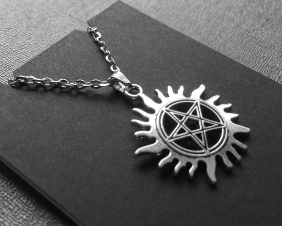 Supernatural Dean Sam Winchester Protection Amulet Pendant with Choker Necklace