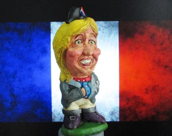 Marine Le Pen Caricature Figurine- Leader of French National Front - Ideal gift for Frexit!! (Illustrated Gift Box) Limited Availability