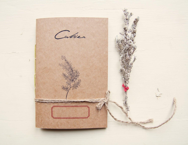 herbier méditerranéen carnet cahier botanique journal papier | etsy